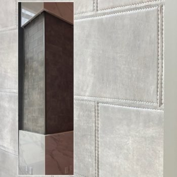 Keleen Leathers KLAD™ Luxury Leather Wall Tiles as Columns for Kimpton Arras Hotel