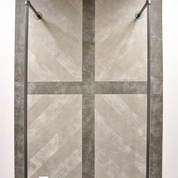 Chevron Style Retail Inspired Leather Wall Tiles by Keleen Leathers, Inc.