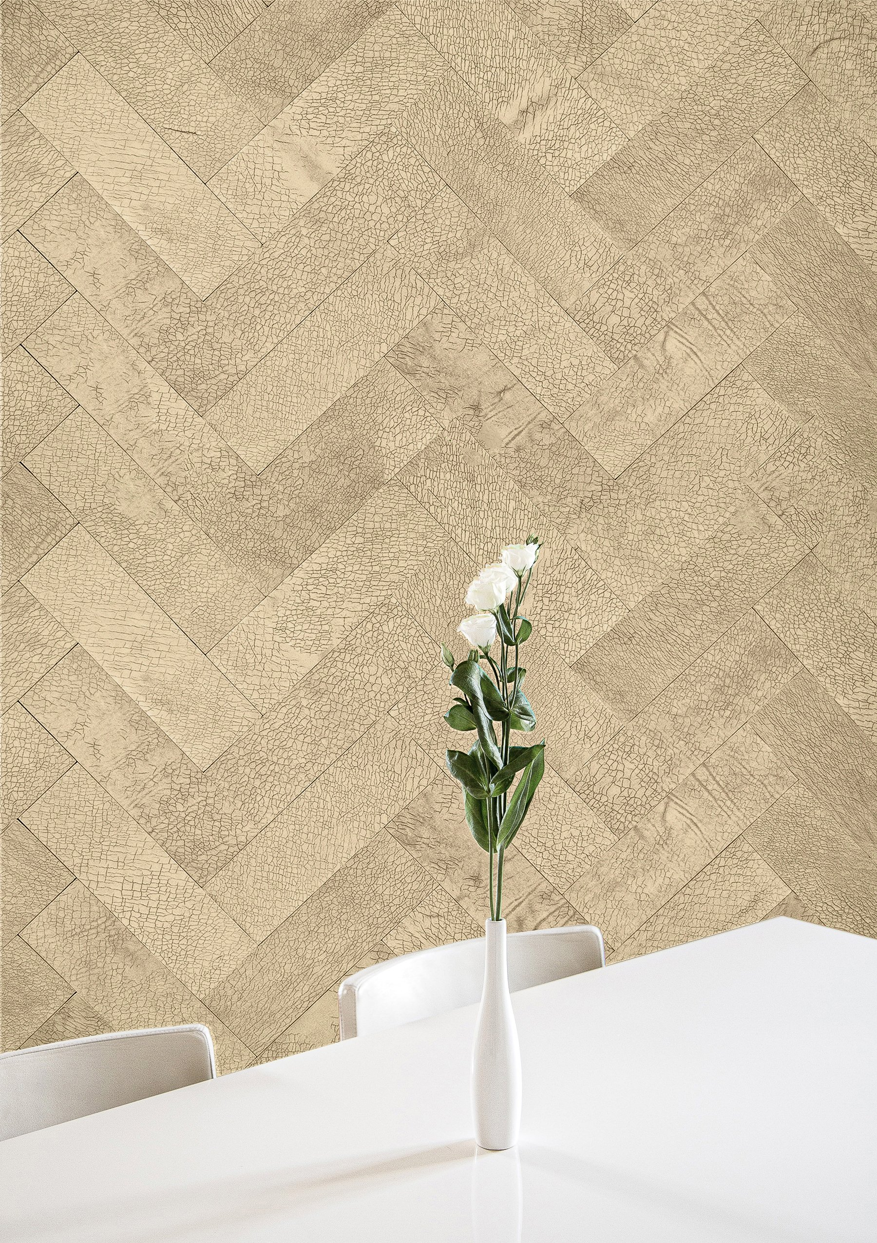 Leather Walls Tiles in Sofisticato Leather Collection by Keleen Leathers, Inc.