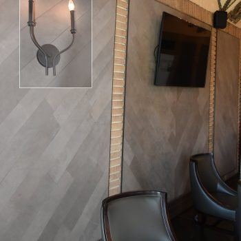 Leather Wall Tiles for Chicago Country Club by Keleen Leathers, Inc.