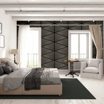 Leather Wall Tiles in Diamond Pattern by Keleen Leathers, Inc.