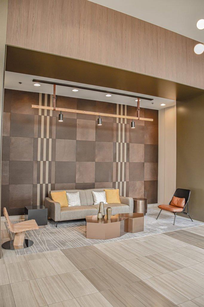 North Harbor Tower Chicago - Keleen Leathers KLAD Luxury Leather Wall Tiles Illinois