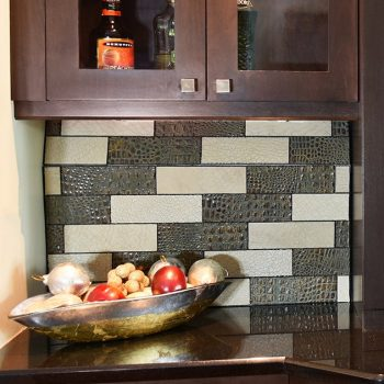Kitchen Backsplash Leather Wall Tiles by Keleen Leathers, Inc.
