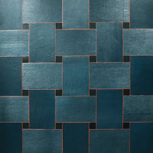 Woven Leather Wall Tiles Style with Painted Edge by Keleen Leathers, Inc.