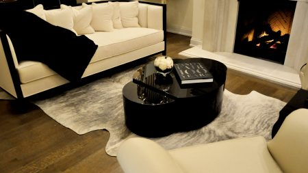 "Christopher Guy Showroom Chicago Featuring Keleen Leathers ""Gigantic Rug"""