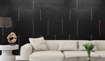 Image of a Luxury Leather Wall with Zipper Detail by Keleen Leathers