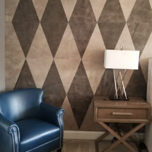 Keleen Leathers Leather Wall Tiles for KLAD Project in Diamond Pattern
