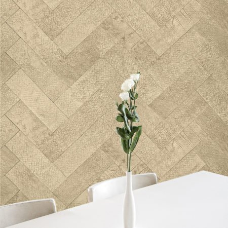 Herringbone Leather Wall Tile Pattern by Keleen Leathers in Sofisticato