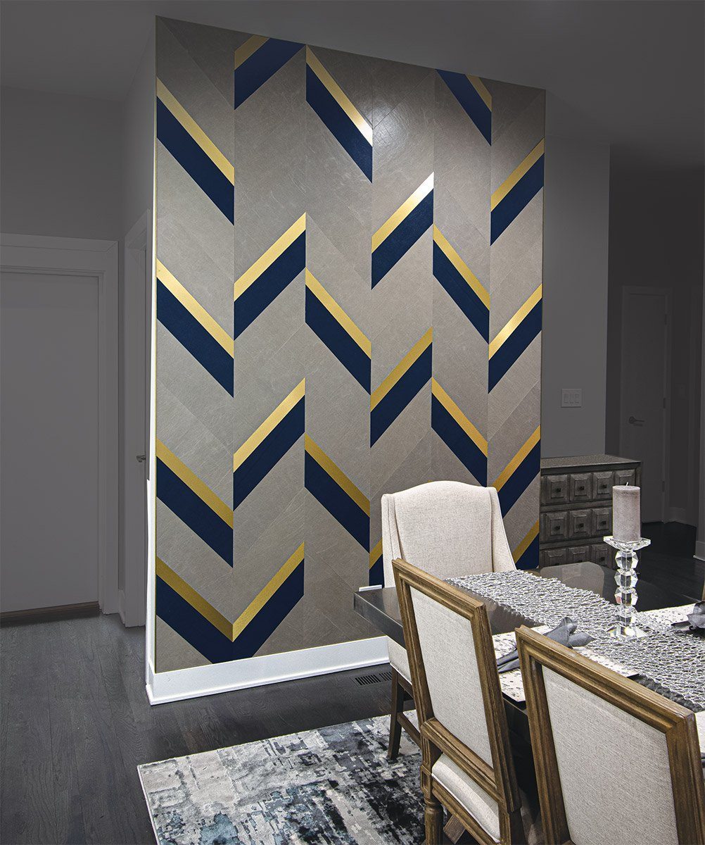 leather wall tiles mixed metal accent wall