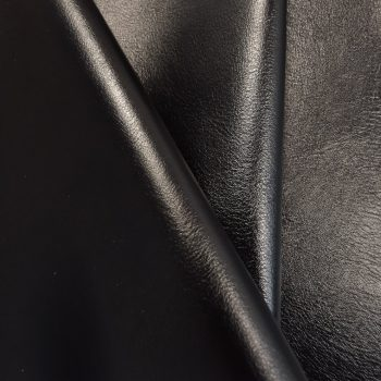 BLACK upholstery leather fabric keleen leathers