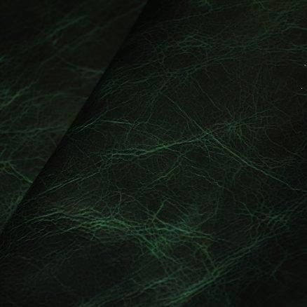 broken emerald leather upholstery