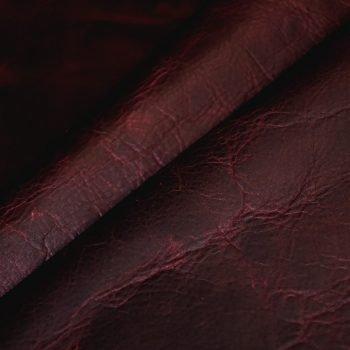 red magenta dark leather hide upholstery