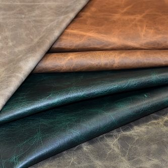 tumbled rough upholstery leather distressed